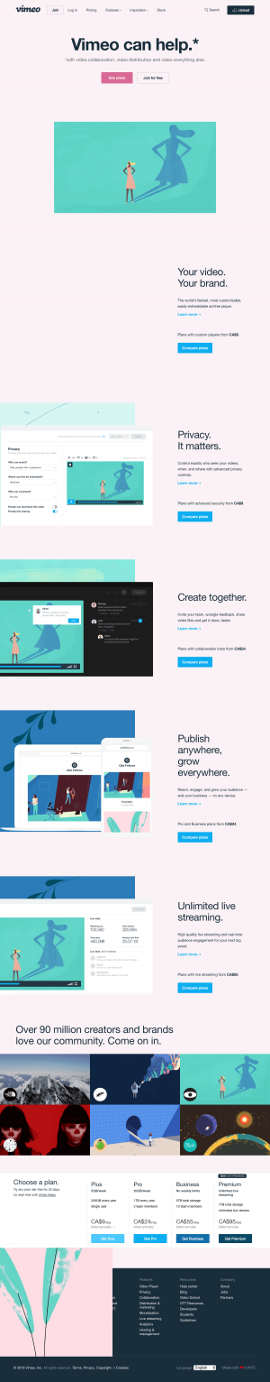 Vimeo - Homepage