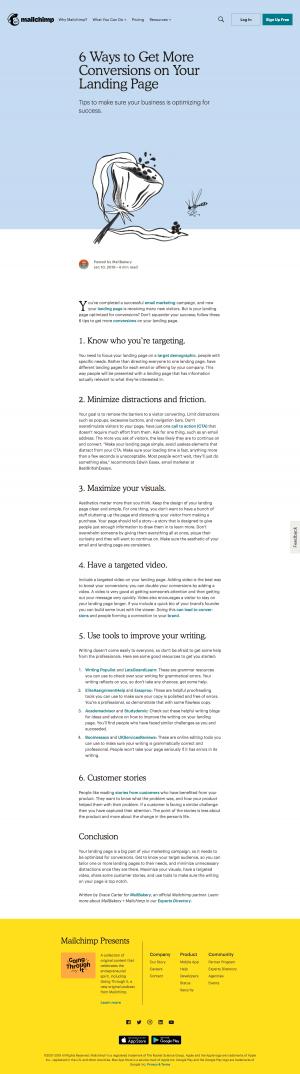MailChimp - Blog