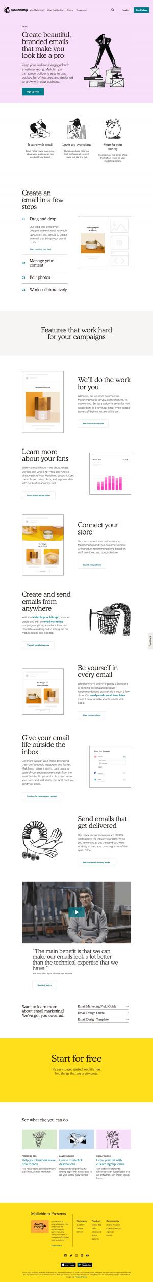 Mailchimp - Features page 3