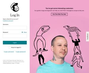 MailChimp - Login page