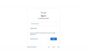 Gmail - Login page