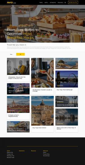 Hertz – blog layout