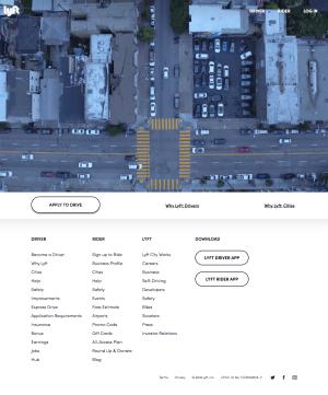 homepage - lyft