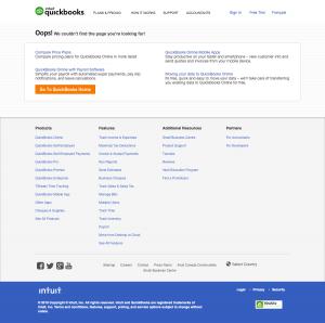 404 error page - quickbooks