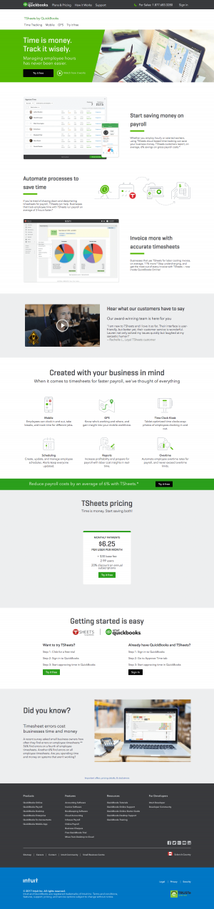 features page - quickbooks