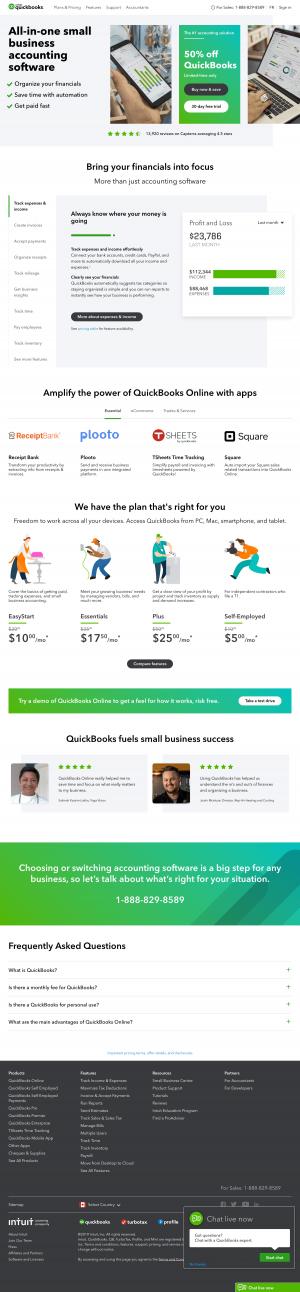 homepage - quickbooks