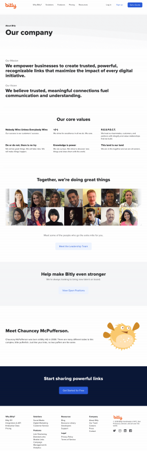 aboutus page - bitly