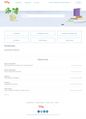 support page - bitly