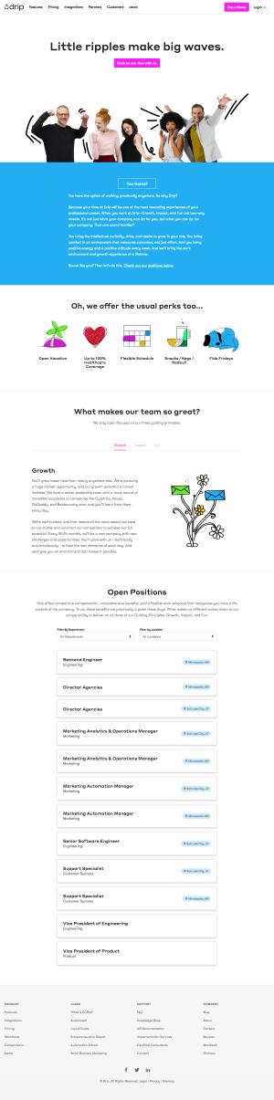 Career page - drip