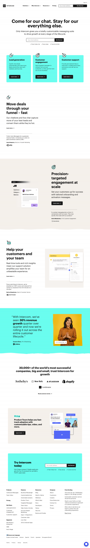 Homepage - intercom