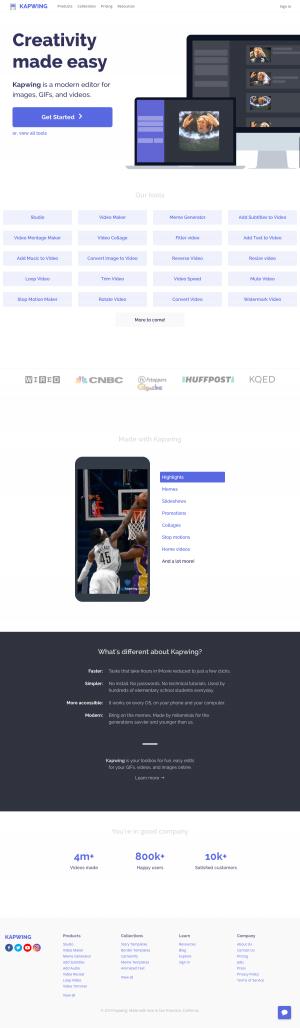 Homepage - kapwing