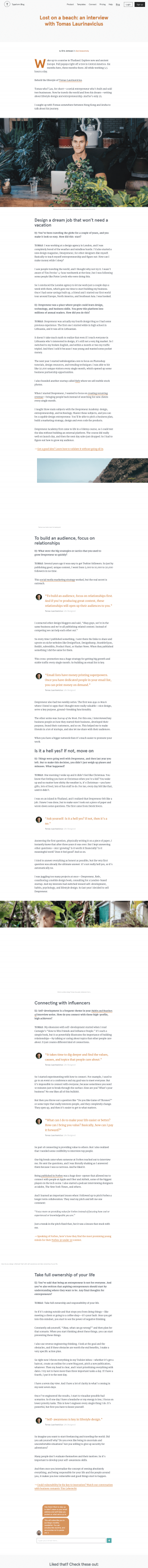 Blog article page - typeform