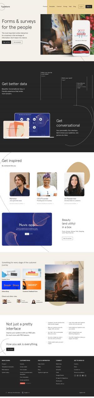 Homepage - typeform