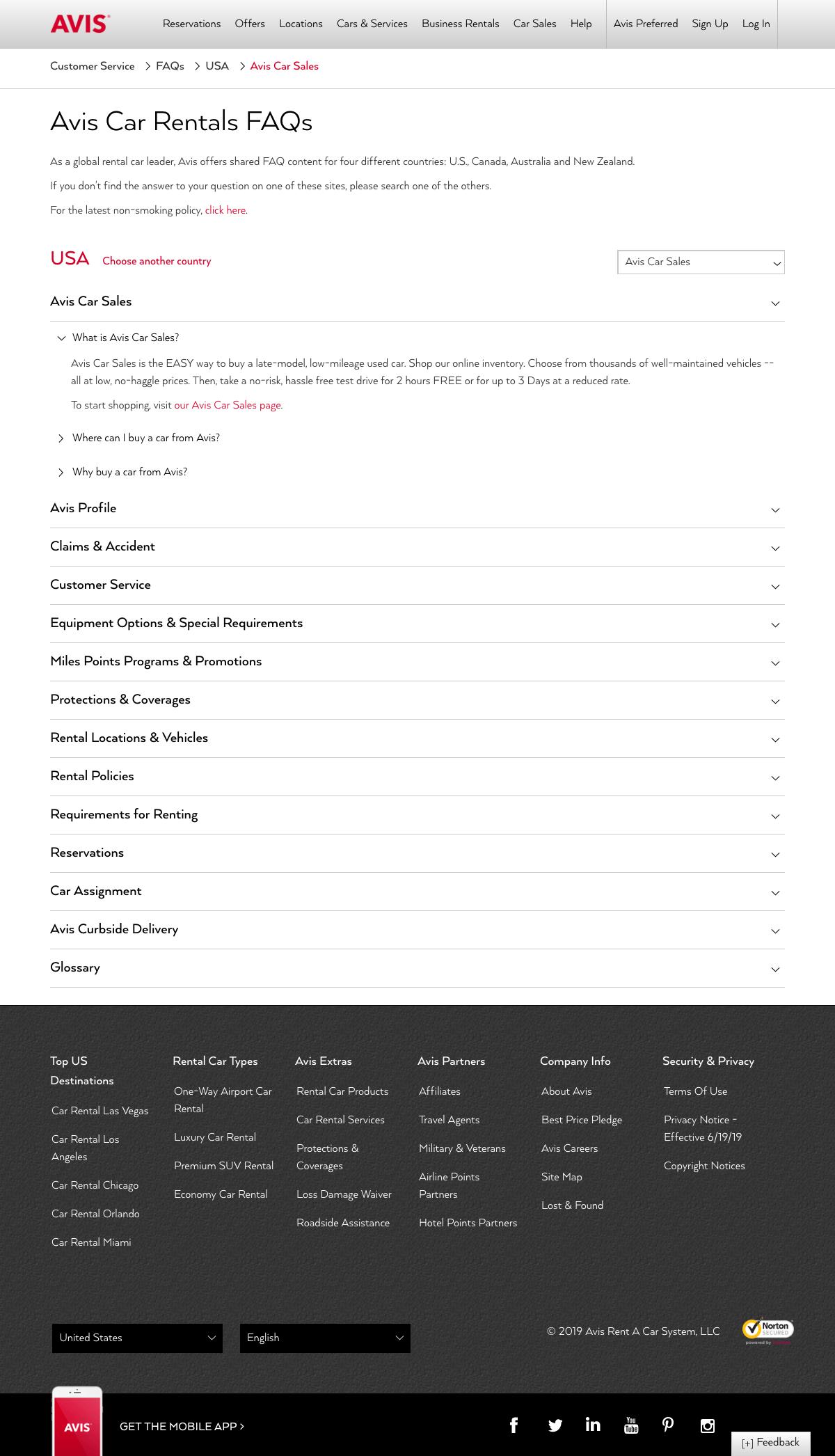 FAQs page - avis