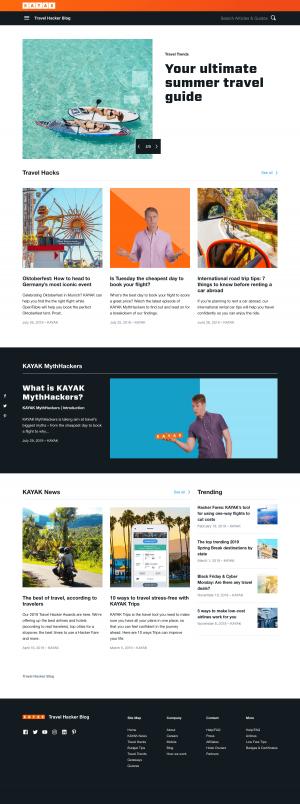 Blog index page - kayak