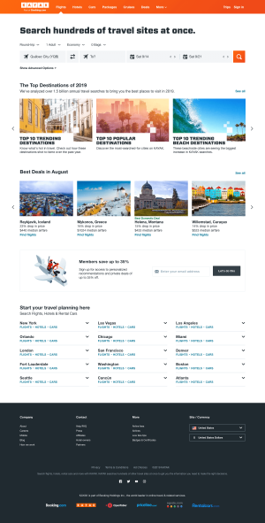 Homepage - kayak