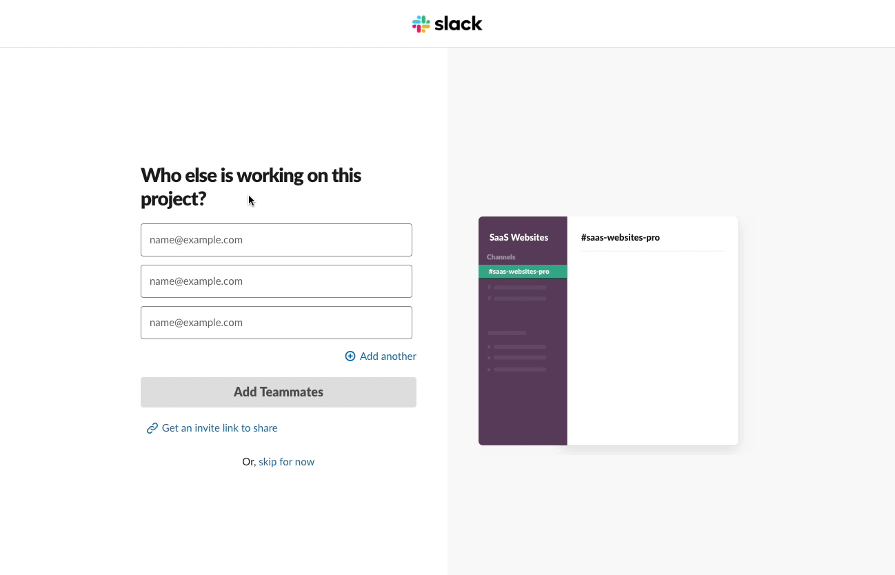 User Onboarding process from Slack - Email validation to work team