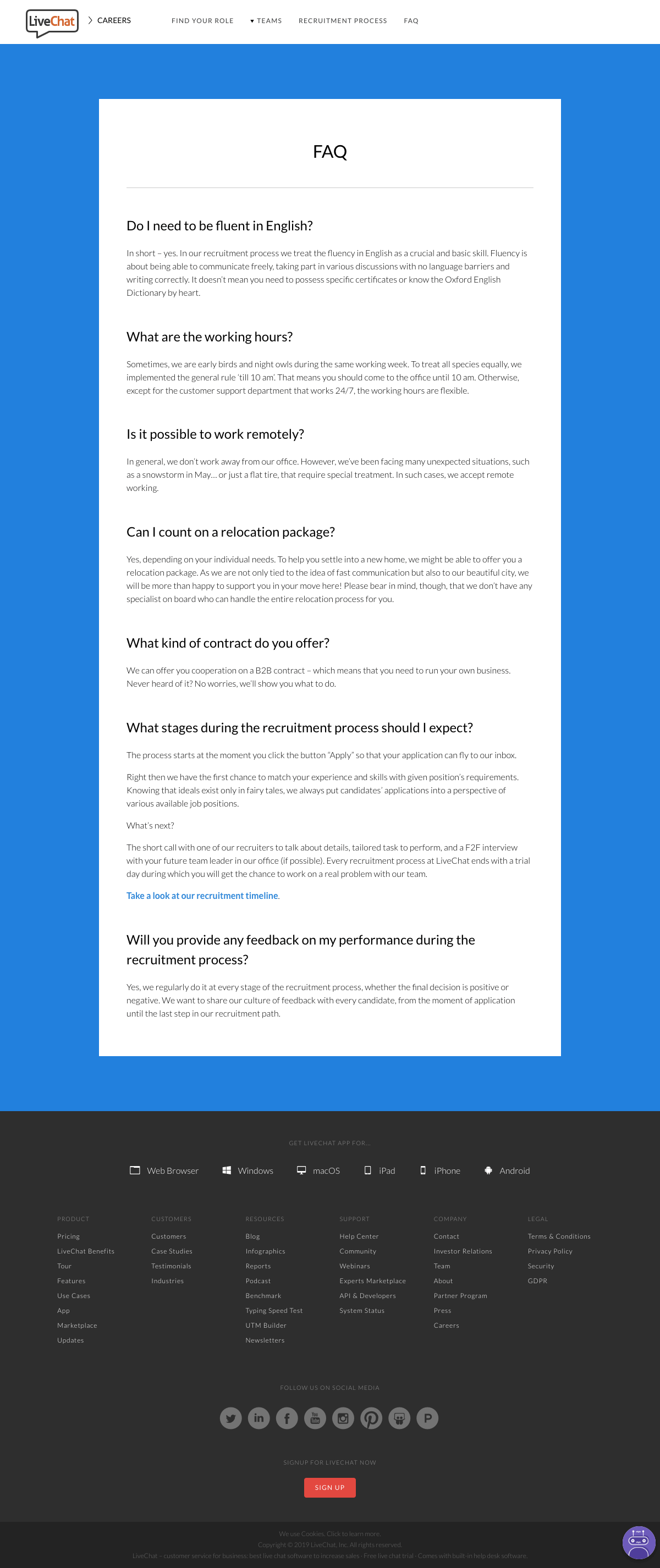 LiveChat - FAQ page