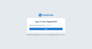 Amplitude - Login page