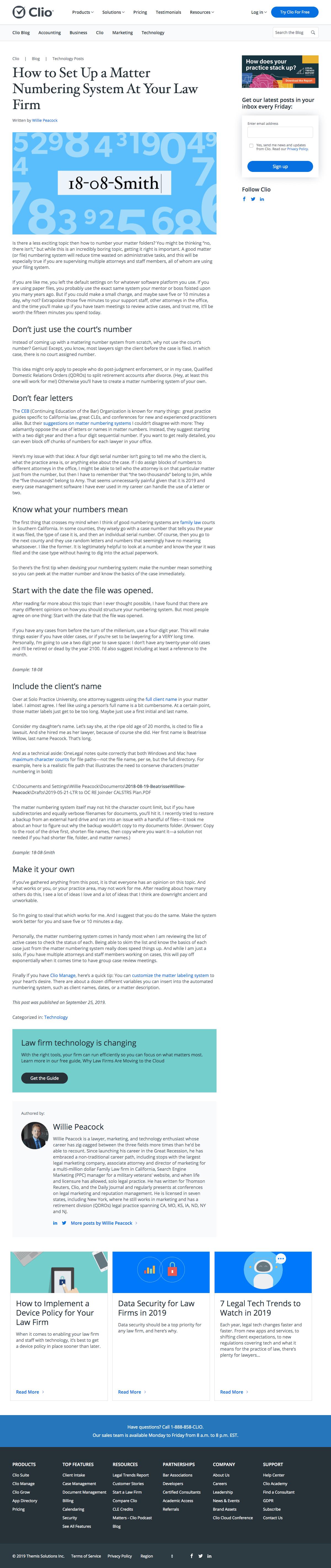 Clio - Blog Article