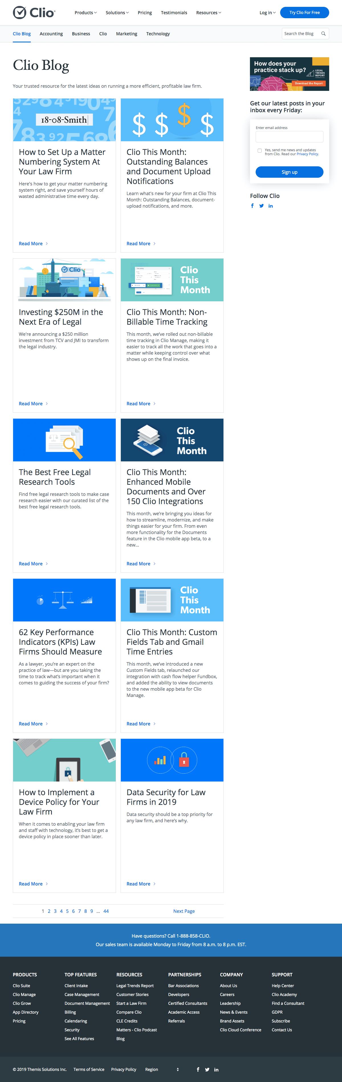 Clio - Blog Index