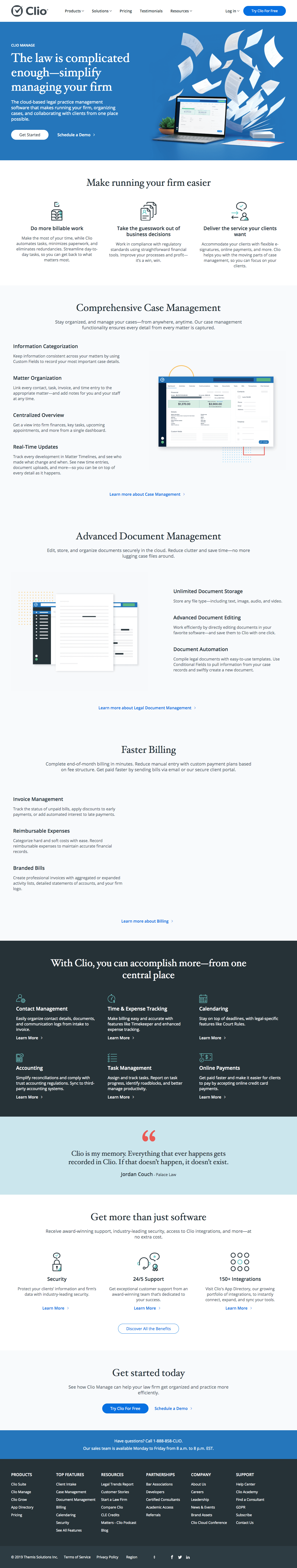 Clio - Features page