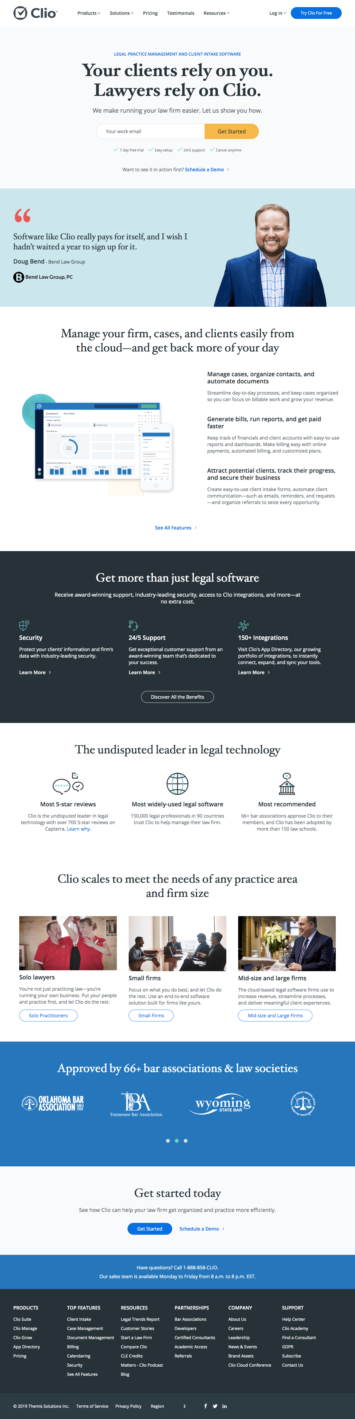 Clio - Homepage