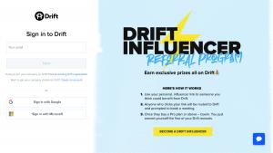 Drift - Login page