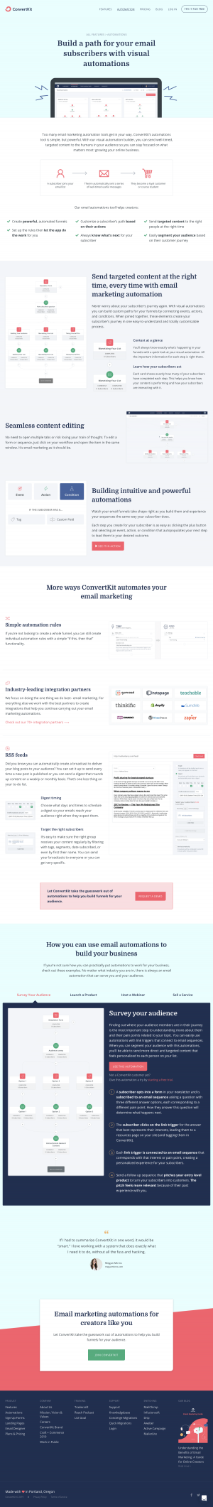 ConvertKit - Features page 2
