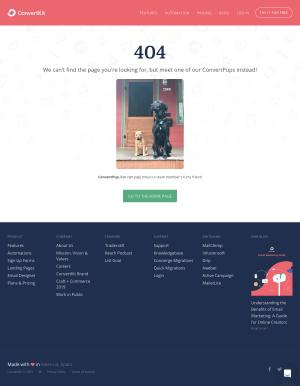 ConvertKit - 404 Error page