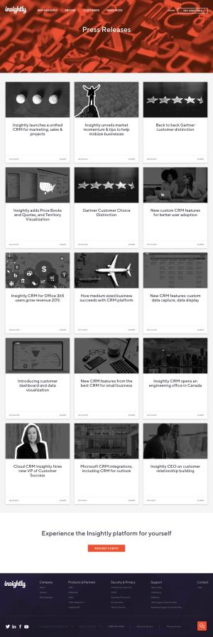 Insightly - Media kit page