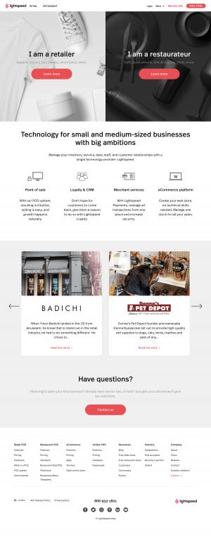 Lightspeed - Homepage