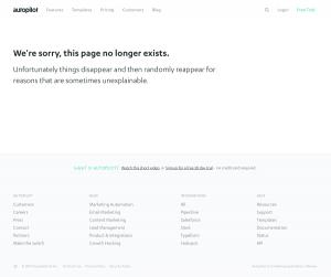 Autopilot - 404 Error page