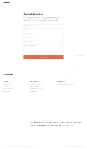 Autopilot - Contact page