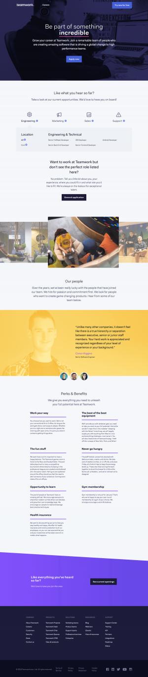 Teamwork - Career page