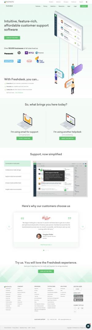 Freshdesk - Homepage