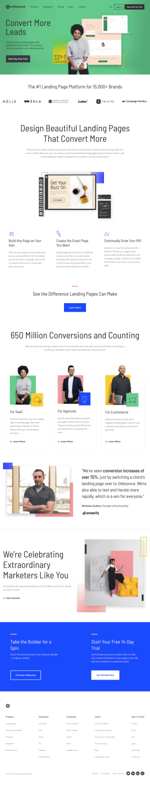 Unbounce - Homepage