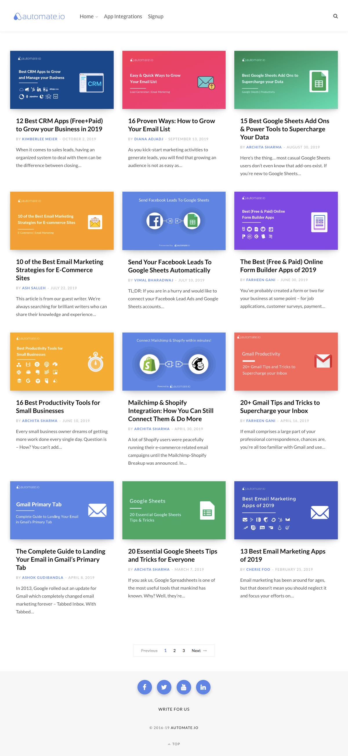Automate.io - Blog index