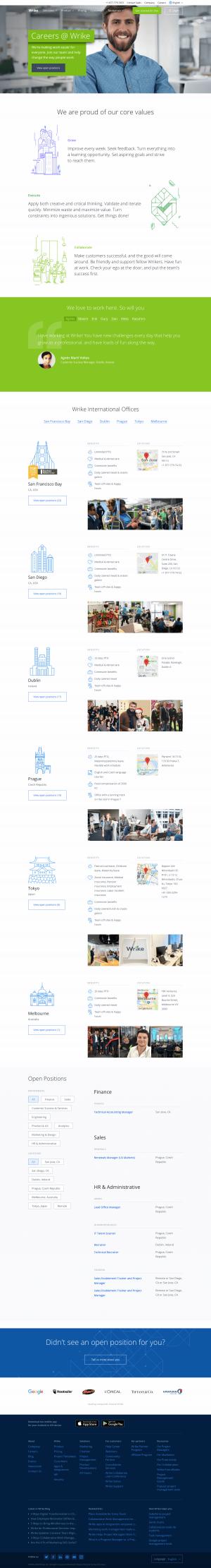 Wrike - Career page