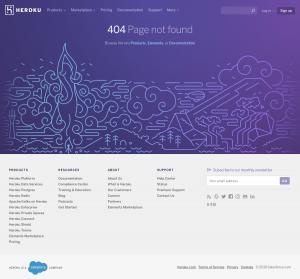 Heroku - 404 Error page