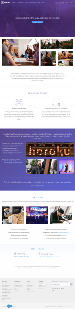 Heroku - Career page