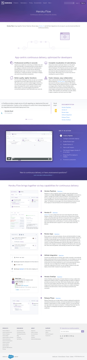 Heroku - Features page 1
