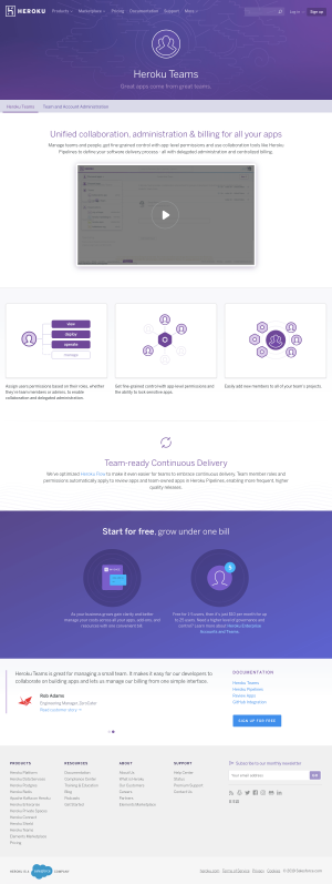 Heroku - Features page 2