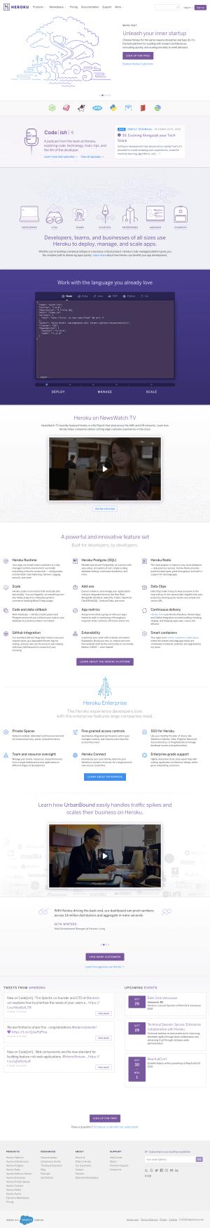 Heroku - Homepage