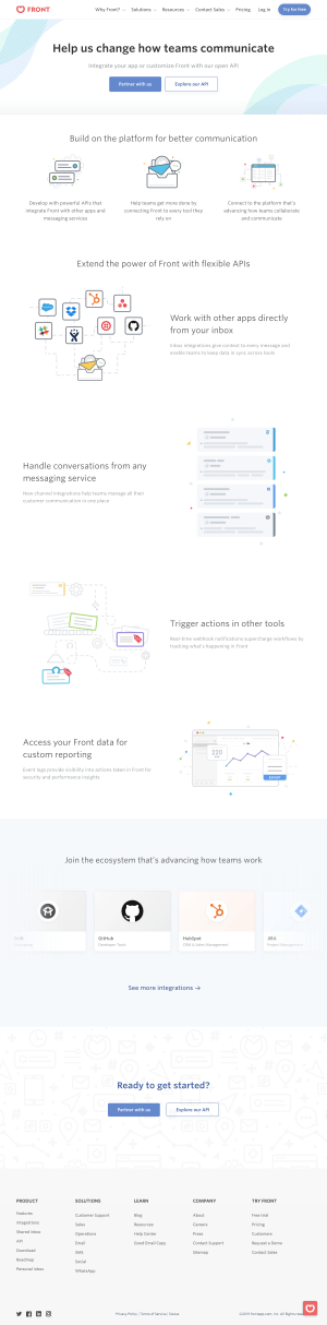 Front - Integrations page 2