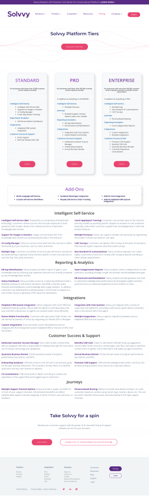 Solvvy - Pricing page