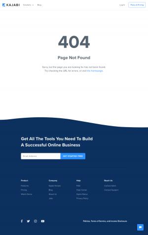 Kajabi - 404 Error page