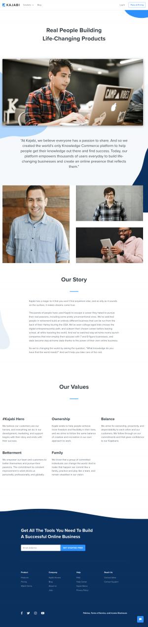 Kajabi - About us page