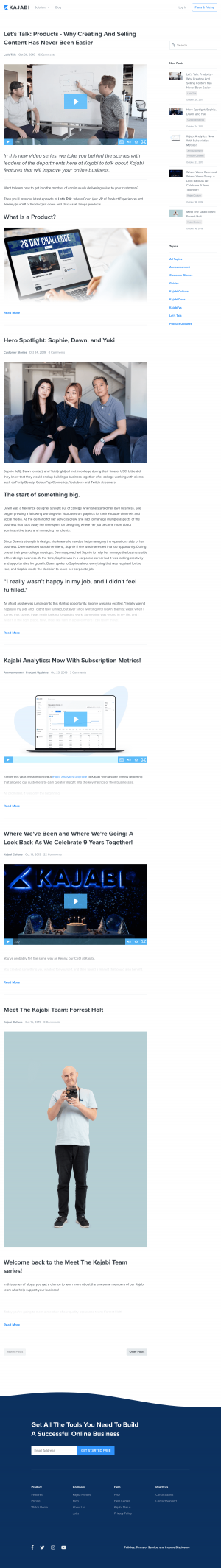 Kajabi - Blog index