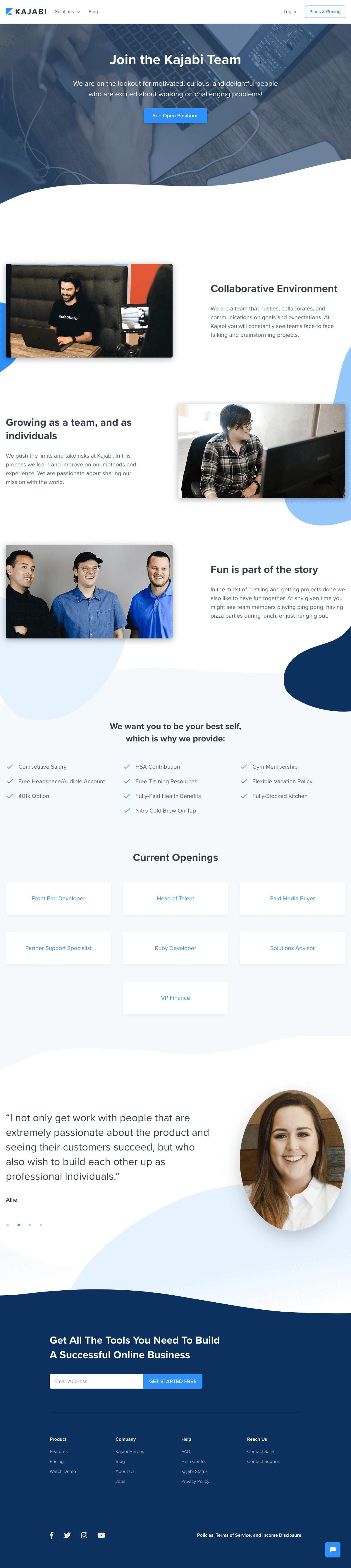 Kajabi - Career page